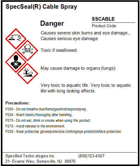 MSDS software GHS hazard label