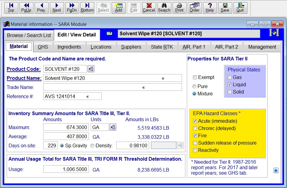 Mirs Sara Modules - Tier Reporting & Inventory Management - Sample